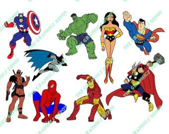 Women clipart captain Man Spiderman Hulk Etsy Batman