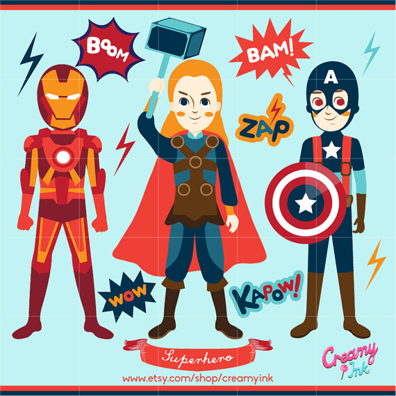 America clipart avenger Superhero Digital Vector  Il_570xn