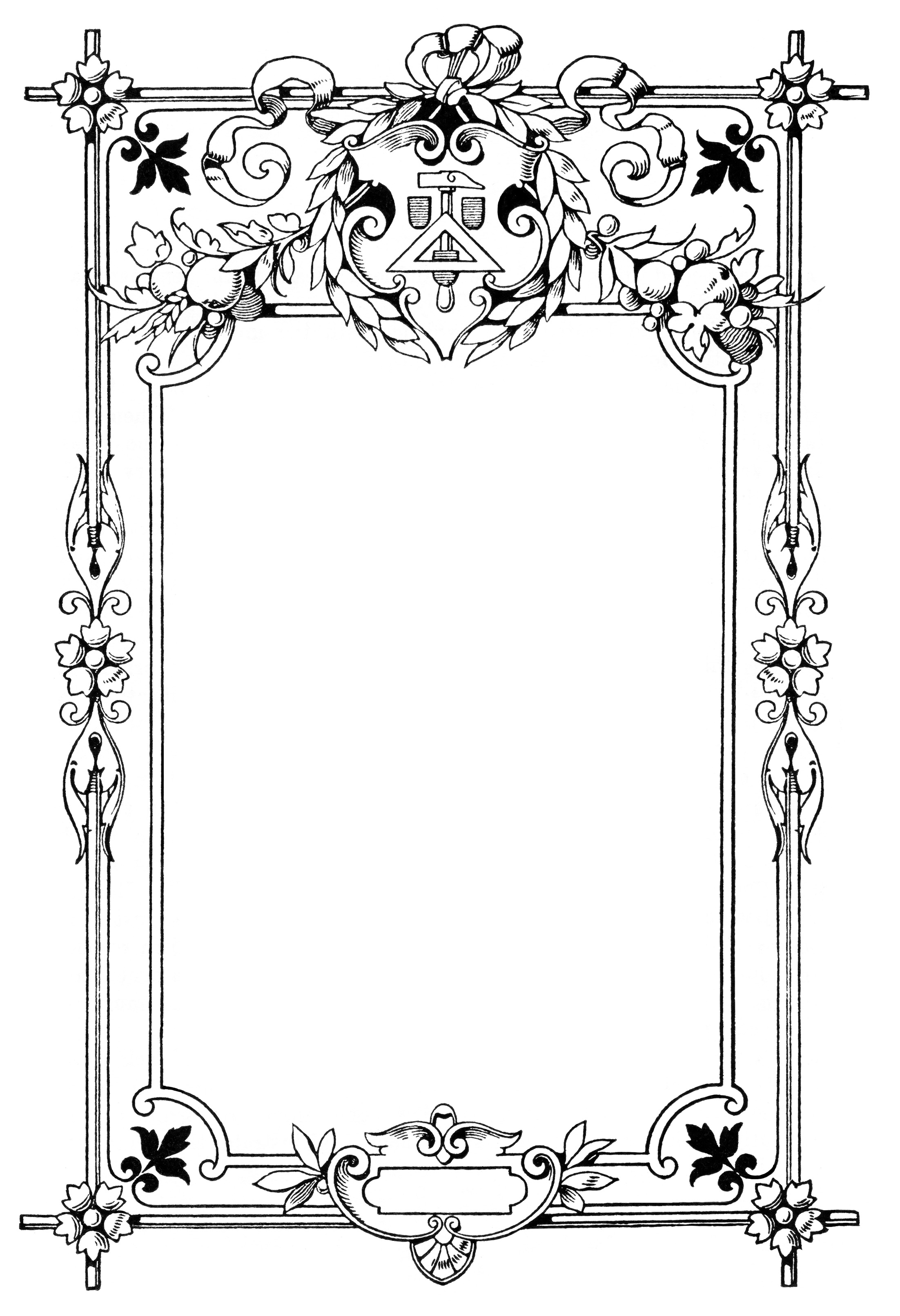 Thorns clipart antique frame Banner  Clip Pinterest vintage