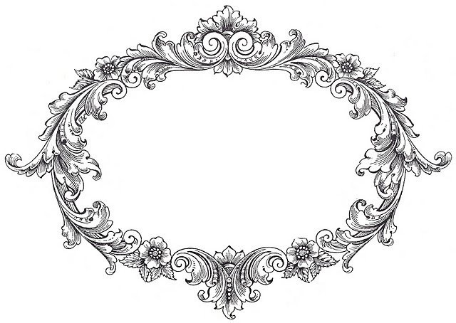 Thorns clipart antique frame 208 on about DESIGN Pinterest