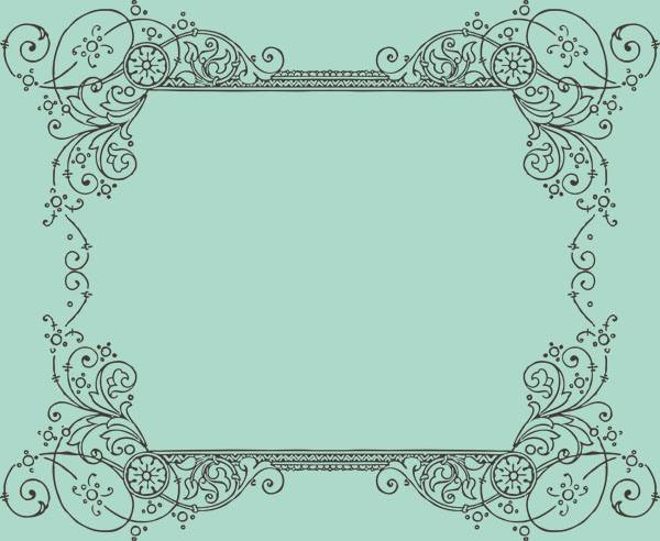Thorns clipart antique frame Borders (1 Free 1 of
