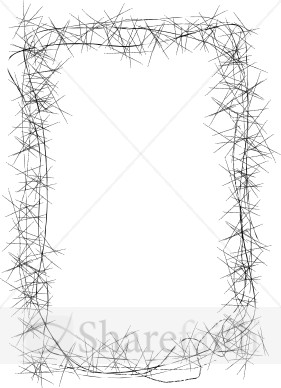 Thorns clipart border Border Borders Email Easter Artistic