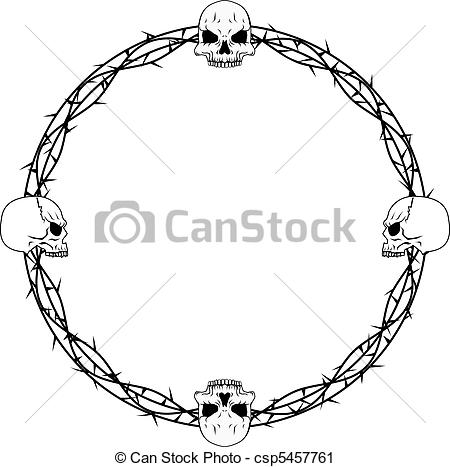 Thorns clipart border Border Vector thorn vines and