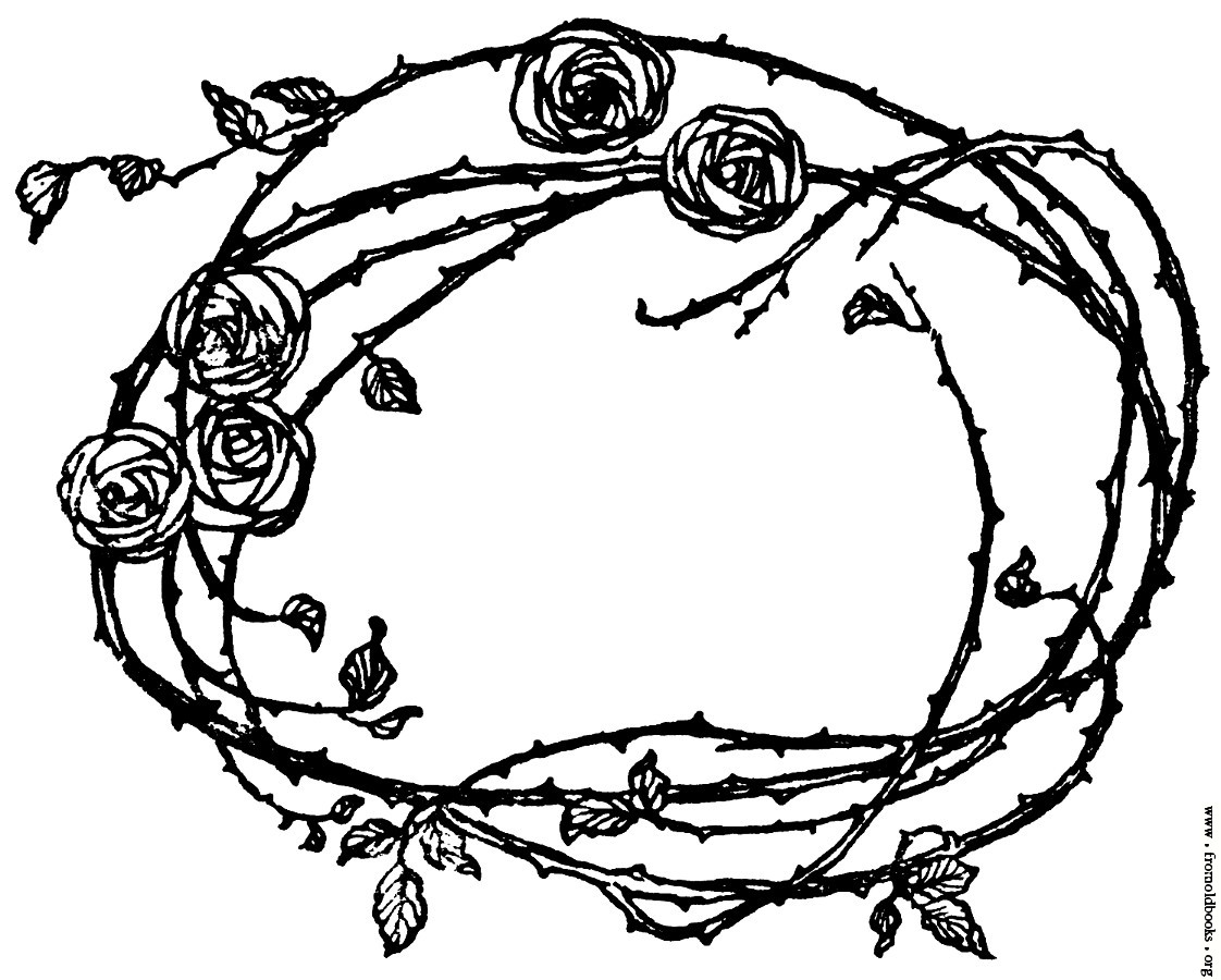 Thorns clipart border Roses Thorns] of and Border