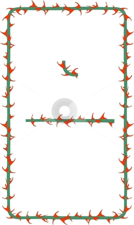 Thorns clipart border Rose Border Border vector Thorns