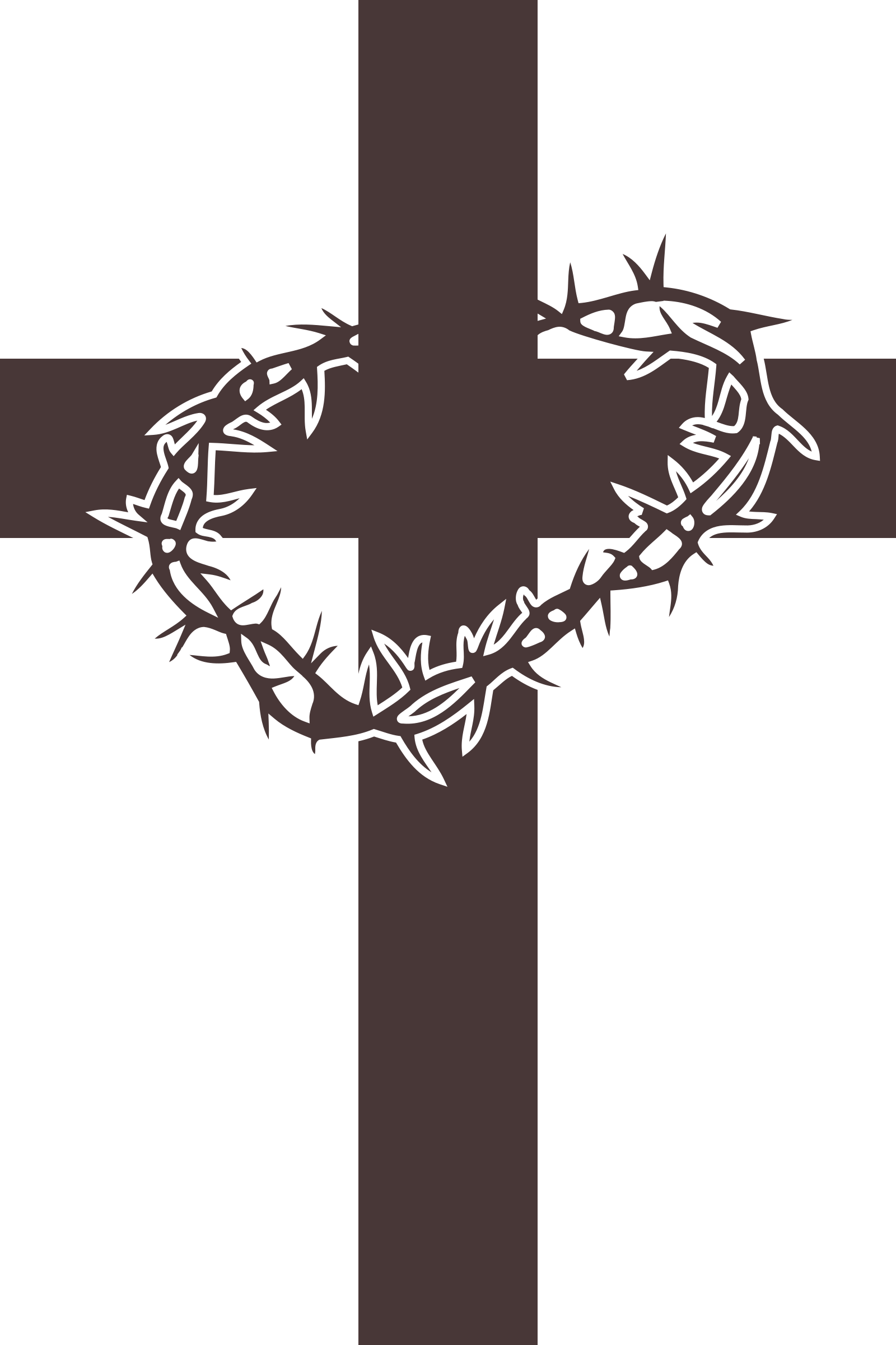 Thorns clipart crown thorns Clipart and Cross Cross thorns