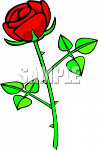 Red Flower clipart thorn #1