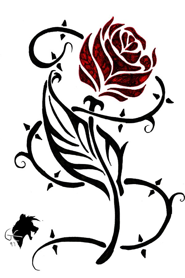 Thorns clipart tribal Rose rose thorny  possibilities