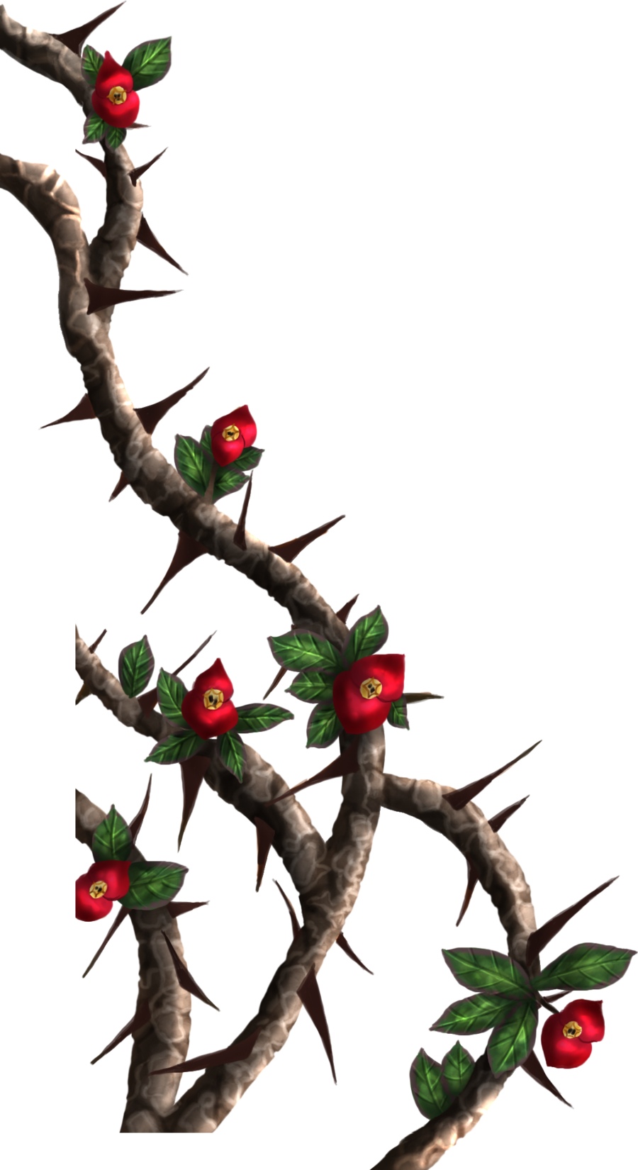 Drawn rose bush thorn bush Of thorn vines DameOdessaStock on