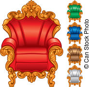 Throne clipart vector Vector white Clipart Illustrations Throne