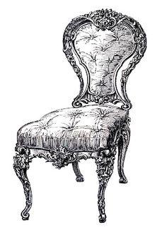 Throne clipart antique furniture Green white art chair vintage