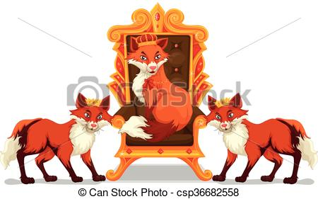 Throne clipart vector Foxes Clipart sitting on illustration