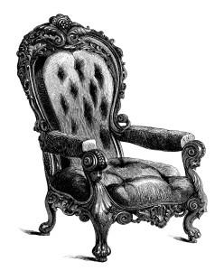 Throne clipart vintage chair Black and clip white chair