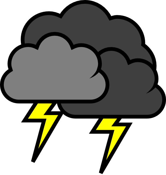 Clouds clipart stormy cloud & Cliparts cloud Thunder Pie
