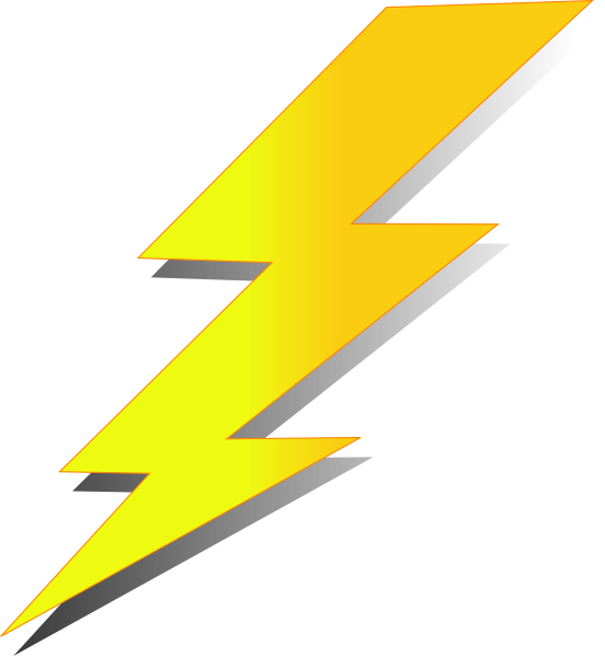 Thunder clipart animated  Clker Icon this as:
