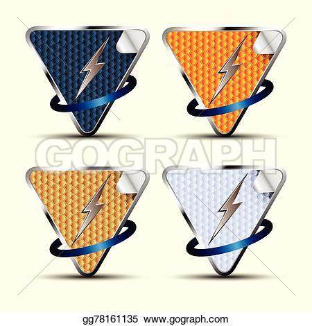 Thunder clipart arrow  Stock Clip Art label;