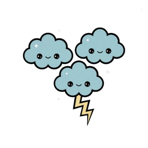 Thunder clipart cute Pinterest TattoosThunder Kawaii tumblr 41