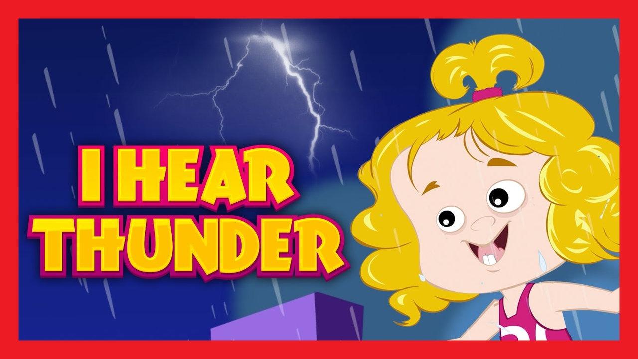 Thunder clipart i hear Rhyme Nursery Thunder Video 01:08