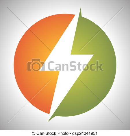 Thunder clipart icon  sign Lighting Vector sign