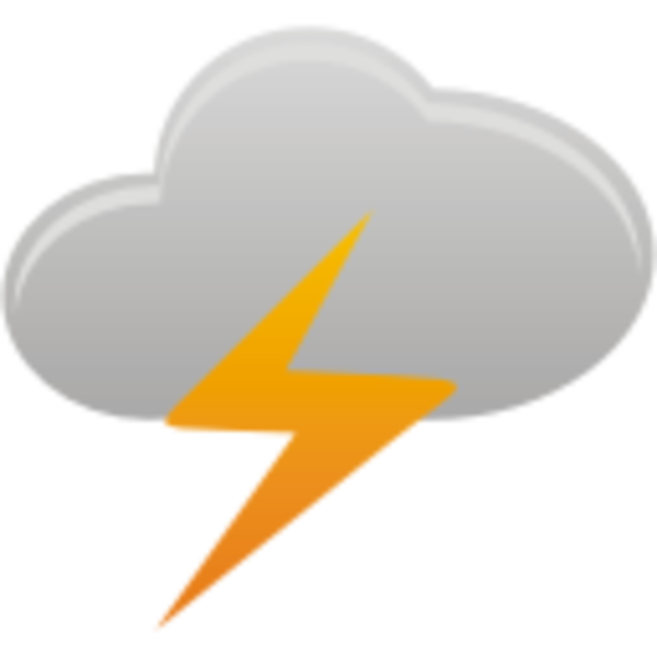 Thunder clipart icon Clip com at image Clker
