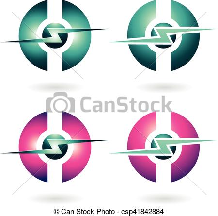 Thunder clipart icon Illustration Icon Sphere Abstract Abstract