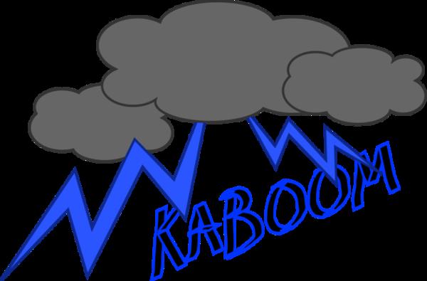 Thunderstorm clipart kaboom Art Vector Kaboom Large Thumb