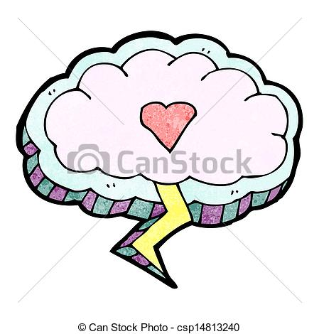 Thunder clipart pink Cartoon heart heart thunder cloud