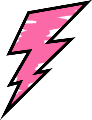 Thunder clipart pink Painted Lightning Painted Lightning Bolt