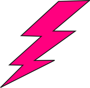 Thunder clipart pink Lightning yellow vector  bolt