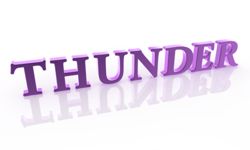 Thunder clipart purple Free THUNDER Letters art Characters