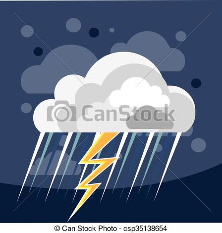 Thunderstorm clipart severe weather Storm Weather  csp35138654 Icon