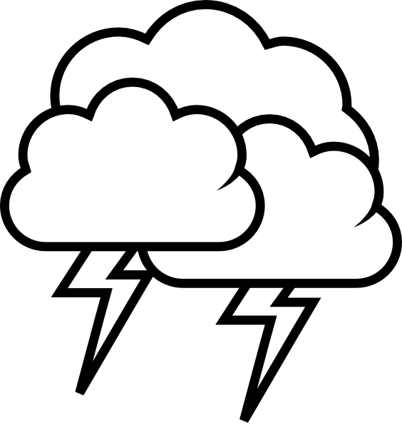 Thunderstorm clipart stormy Outline image Weather Tango as: