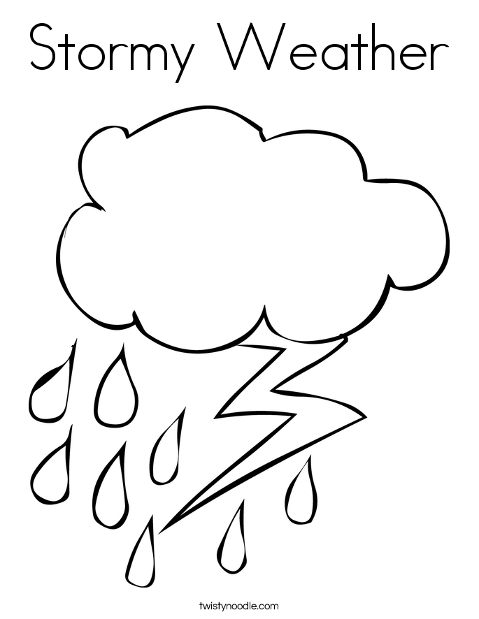 Thunder clipart stormy weather Stormy Twisty Noodle Weather Twisty