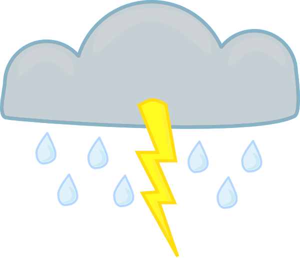 Thunder clipart thunderstorm Art Free Download Clipart Storms