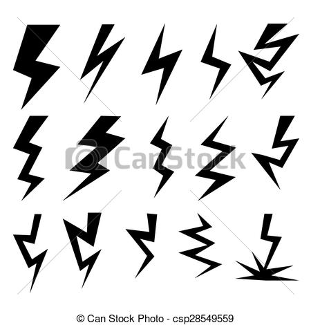 Thunder clipart vector Of csp28549559 Clipart Set lighting