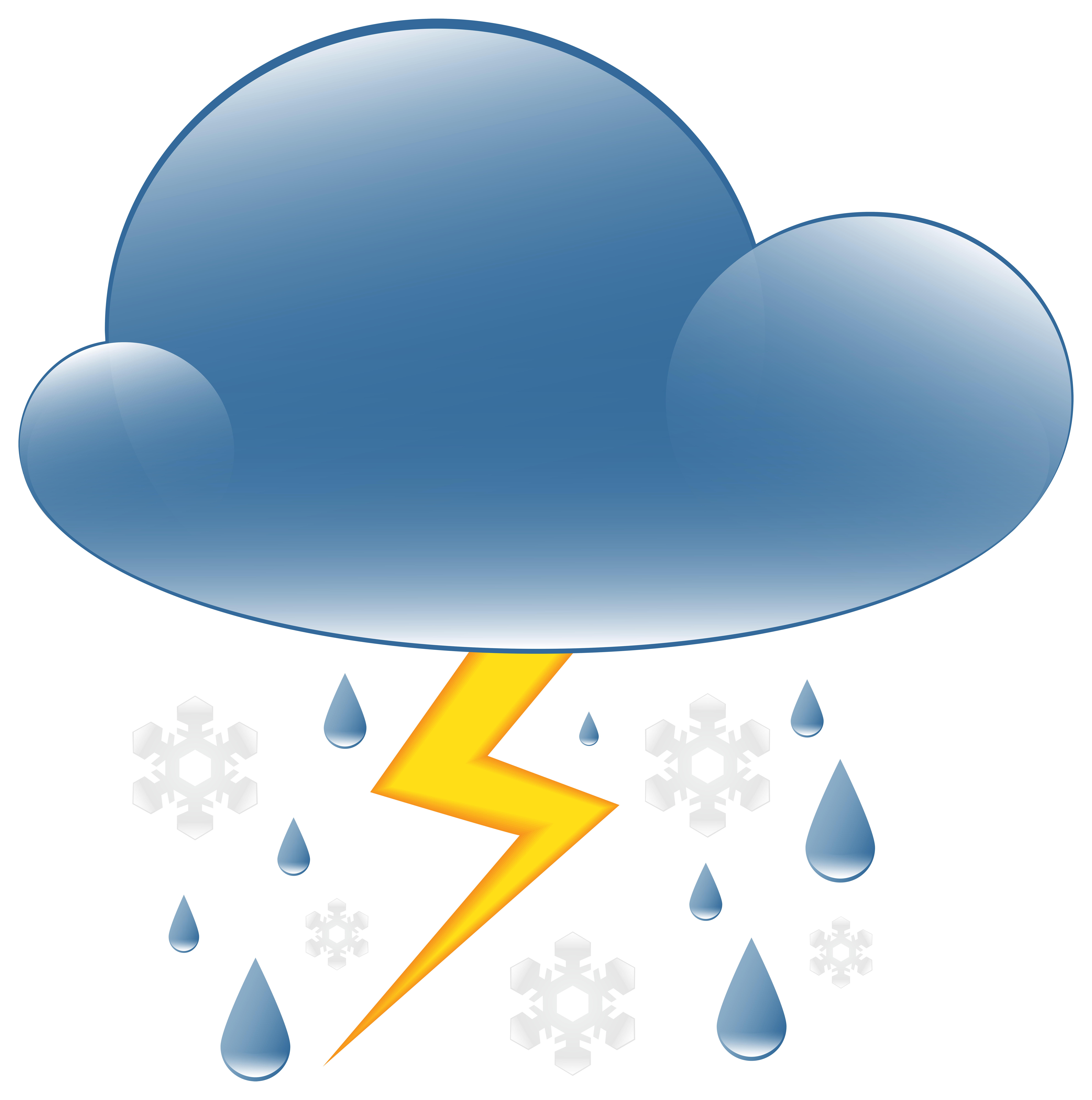Thunder clipart weather symbol PNG Rain Thunder Weather Rain