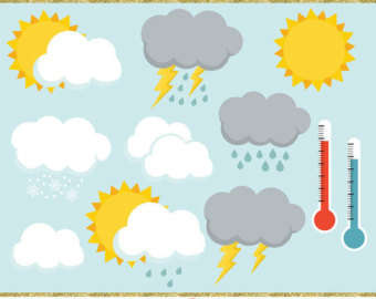 Thunder clipart weather symbol Art Symbol Weather Weather Weather