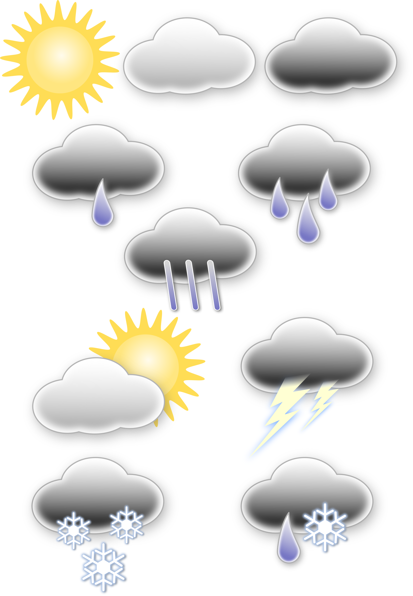 Thunder clipart weather symbol Symbols Weather symbols Clipart Weather