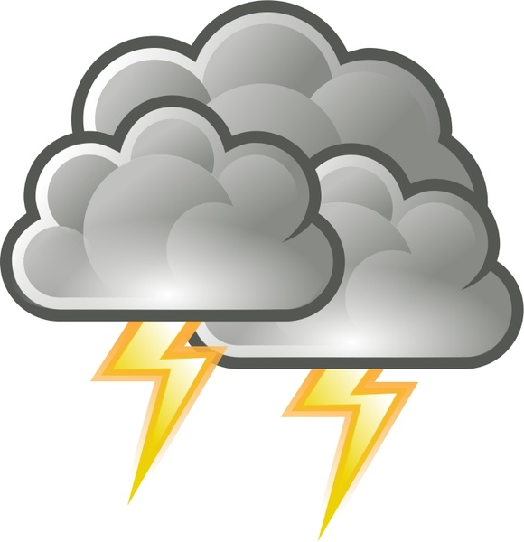 Thunderstorm clipart kaboom Free thunderstorm weather clip Tango