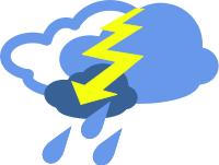 Thunderstorm clipart overcast  art clip Free Lightning