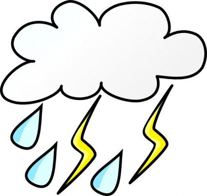 Thunderstorm clipart rainstorm Cloud  Lightning Symbols Clip