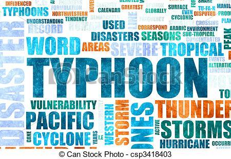 Thunderstorm clipart typhoon Illustration  of Disaster Typhoon