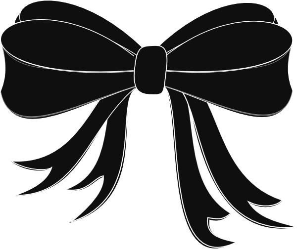 Tie clipart black bow ribbon Online Clker Bow Black Art