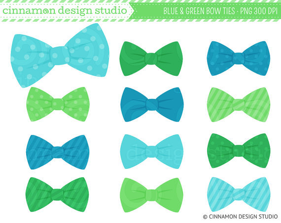 Tie clipart blue and green Clipart Green Clipart Bow Green