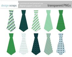 Tie clipart blue and green Blue designscraps boy by art