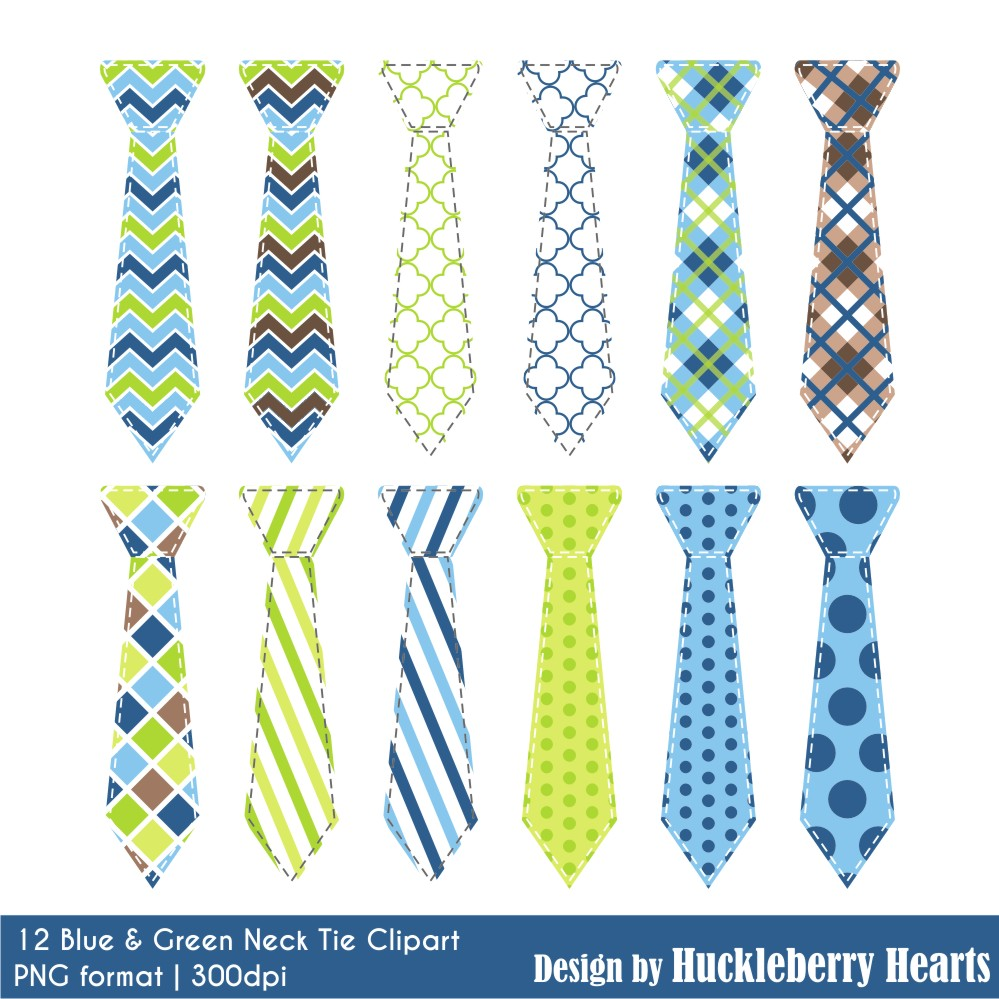 Tie clipart blue and green Tie Blue Neck Green and