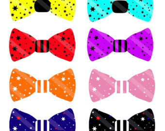 Tie clipart bow tie pattern And Digital Bow Download Clipart