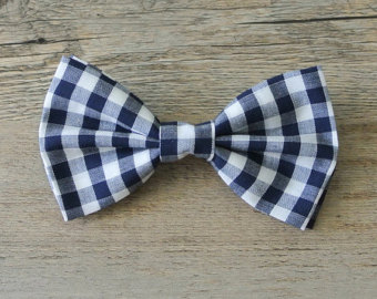 Tie clipart checked Navy Bow Hair Bow plaid