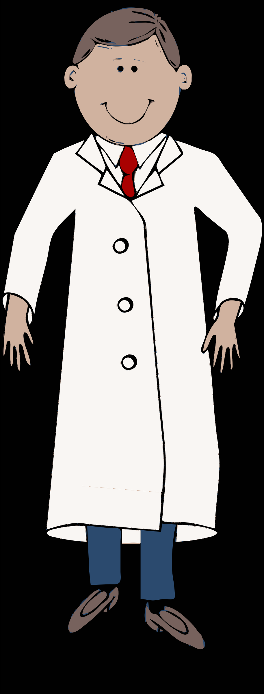 Tie clipart coat tie With coat worn lab scientist