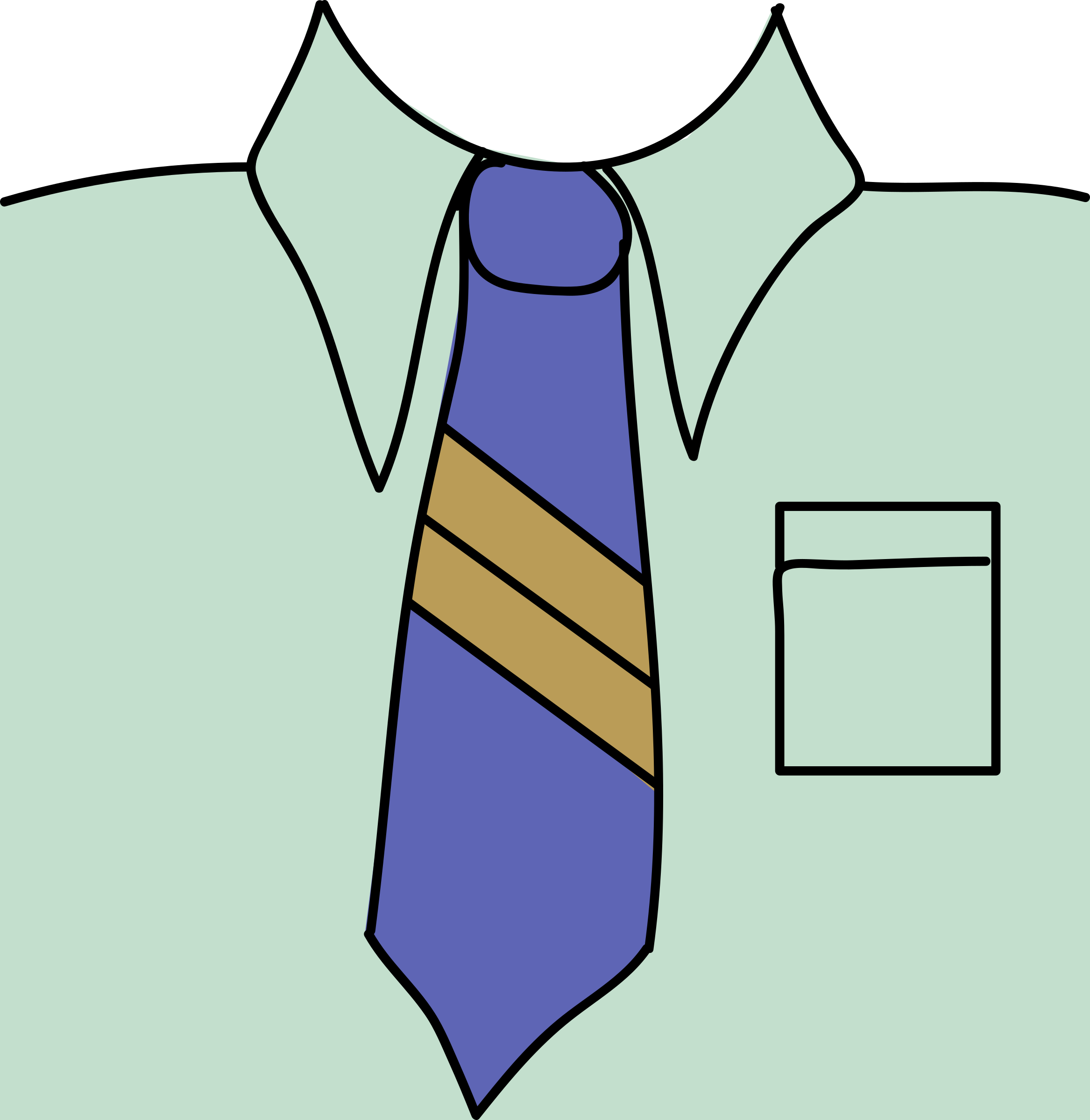 Tie clipart collar Clipart Blue Tie Blue Tie